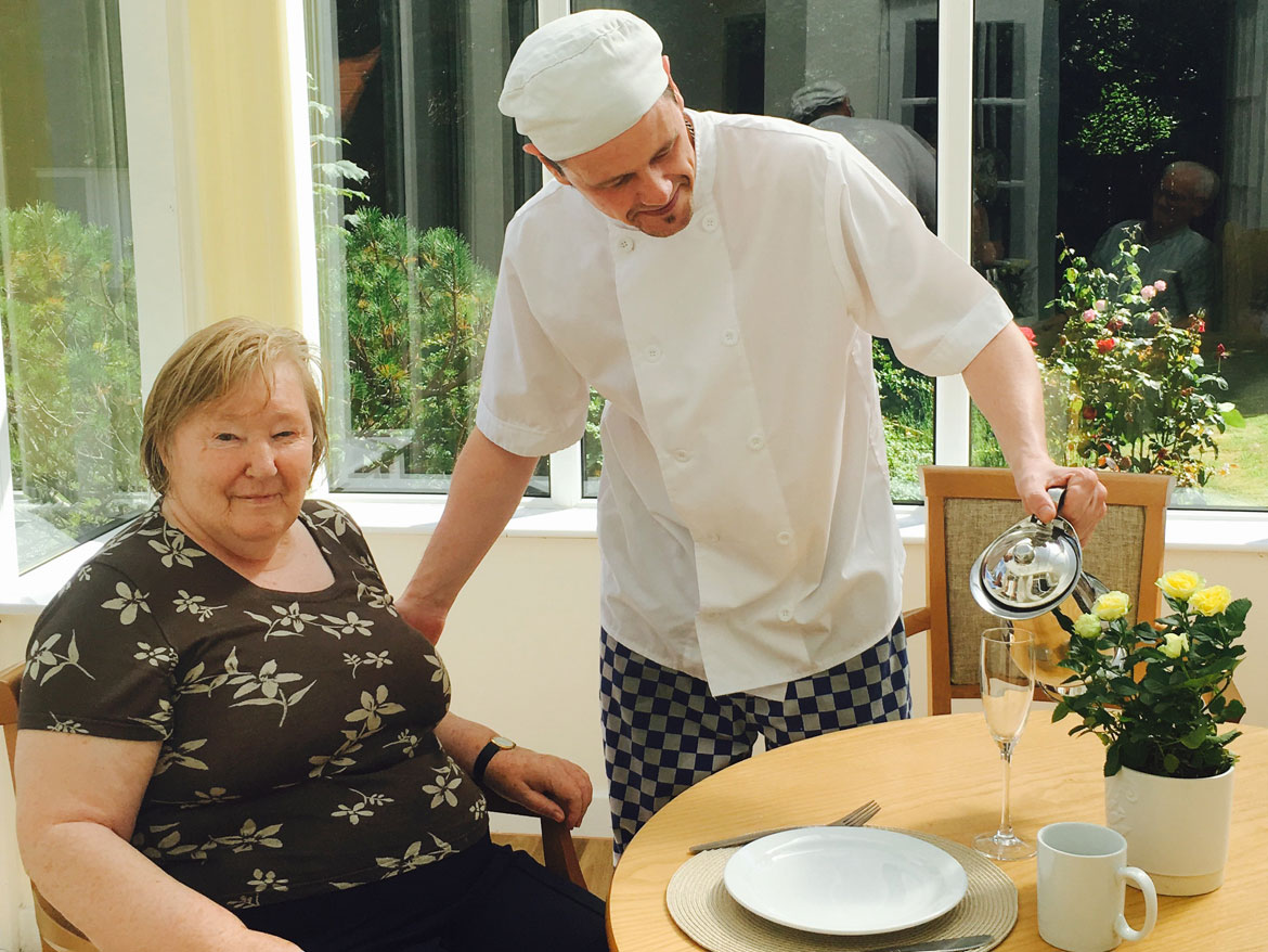 Dining at Parkhouse Manor Care Home
